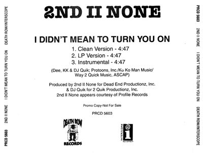 2nd II None – I Didn't Mean To Turn You On (Promo CDS) (1994) (FLAC + 320 kbps)
