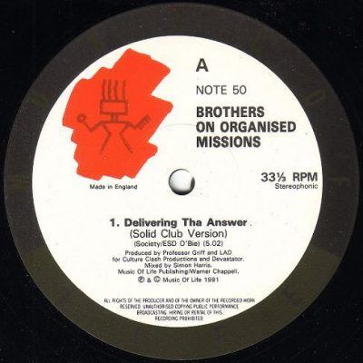 Brothers On Organised Missions – Delivering Tha Answer (1991) (VLS) (192 kbps)