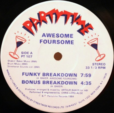 Awesome Foursome – Funky Breakdown (VLS) (1984) (FLAC + 320 kbps)