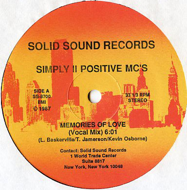 Simply II Positive MC's – Memories Of Love (VLS) (1987) (VBR)