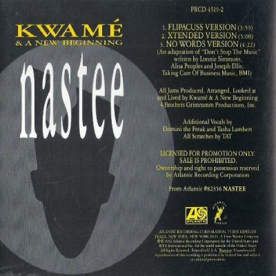 Kwamé And A New Beginning – Nastee (Promo CDS) (1992) (FLAC + 320 kbps)