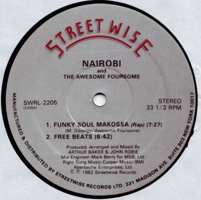 Nairobi & The Awesome Foursome – Funky Soul (VLS) (1982) (320 kbps)