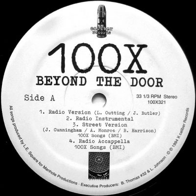 100X ‎– Beyond The Door (VLS) (1994) (FLAC + 320 kbps)