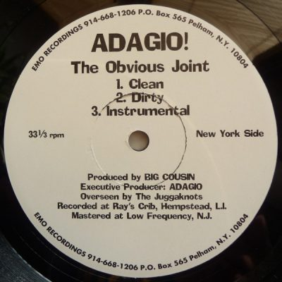 Adagio! – The Obvious Joint / Ass & Benefits (VLS) (1996) (FLAC + 320 kbps)