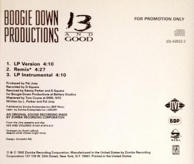 Boogie Down Productions – 13 And Good (Promo CDS) (1992) (FLAC + 320 kbps)