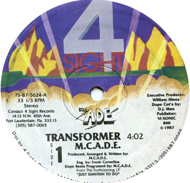 MC ADE – Transformer (1987) (VLS) (256 kbps)