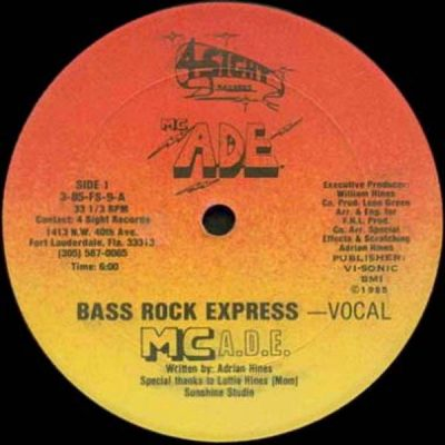 MC ADE – Bass Rock Express (1985) (VLS) (256 kbps)