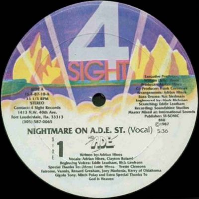 MC ADE – Nightmare On A.D.E. Street (VLS) (1987) (FLAC + 320 kbps)