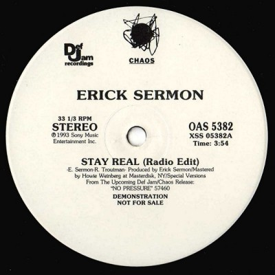Erick Sermon – Stay Real (Promo VLS) (1993) (320 kbps)