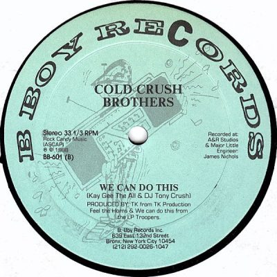 Cold Crush Brothers – Feel The Horns / We Can Do This (VLS) (1988) (FLAC + 320 kbps)
