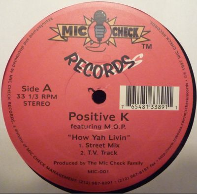 Positive K featuring M.O.P. ‎– How Yah Livin' (VLS) (1997) (192 kbps)