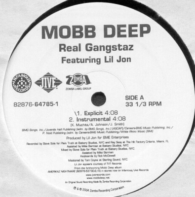 Mobb Deep – Real Gangstaz (VLS) (2004) (320 kbps)