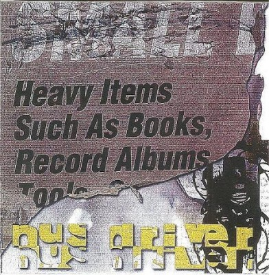 Heavy Items Such As Books, Record Albums, Tools...