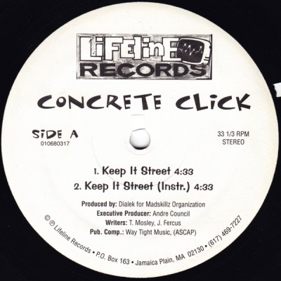 Concrete Click – Keep It Street / Naive To The Fact (VLS) (1995) (FLAC + 320 kbps)