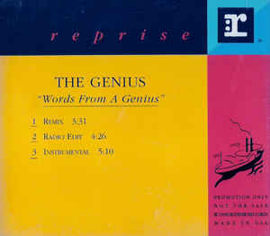 The Genius – Words From A Genius (CDS Promo) (1991) (FLAC + 320 kbps)
