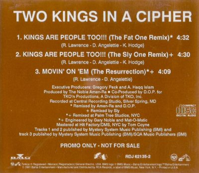 Two Kings In A Cipher – Kings Are People Too!!! (CDS Promo) (1991) (VBR)