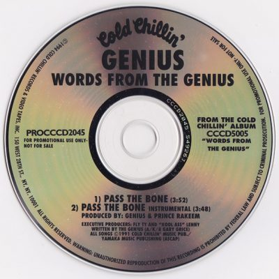The Genius – Pass The Bone (CDS Promo) (1992) (VBR)