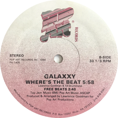Galaxxy – Where's The Beat (1984) (VLS) (FLAC + 320 kbps)