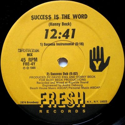12:41 – Success Is The Word (VLS) (1985) (FLAC + 320 kbps)