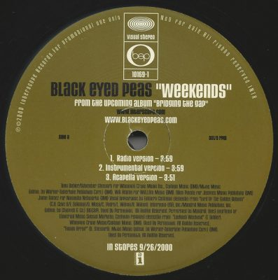 Black Eyed Peas – Weekends / Get Original (VLS) (2000) (320 kbps)