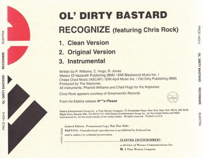 Ol' Dirty Bastard – Recognize (Promo CDS) (1999) (FLAC + 320 kbps)