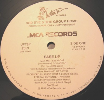 3rd Eye & The Group Home – Ease Up (VLS) (1993) (320 kbps)
