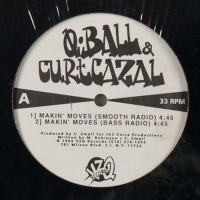 Q-Ball & Curt Cazal – Makin' Moves EP (Vinyl) (1994) (FLAC + 320 kbps)