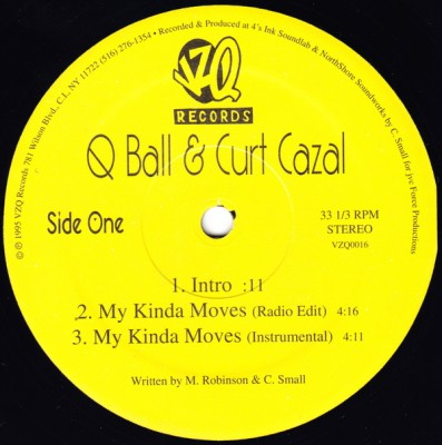 Q-Ball & Curt Cazal – My Kinda Moves (VLS) (1995) (FLAC + 320 kbps)