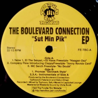 The Boulevard Connection – Sut Min Pik EP (Vinyl) (1998) (320 kbps)