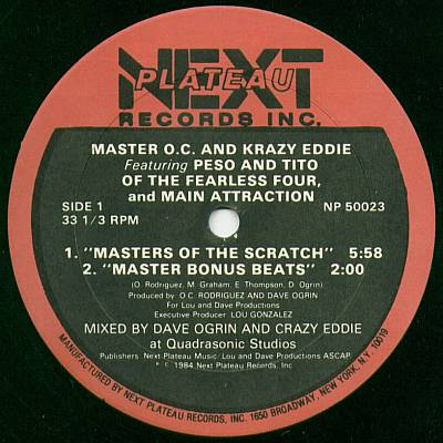 Master O.C. & Krazy Eddie Featuring Peso, Tito And Main Attraction – Masters Of The Scratch (1984) (VLS) (192 kbps)