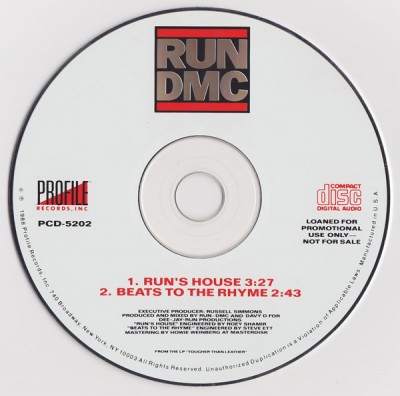 Run-DMC – Run's House / Beats To The Rhyme (Promo CDS) (1988) (320 kbps)