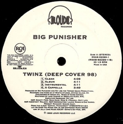 Big Punisher – You Came Up / Twinz (Deep Cover 98) (Promo VLS) (1998) (FLAC + 320 kbps)
