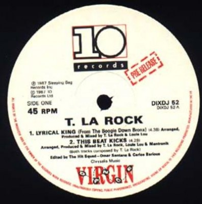 T La Rock – Lyrical King (From The Boogie Down Bronx) (Vinyl Pre-Release) (1987) (320 kbps)