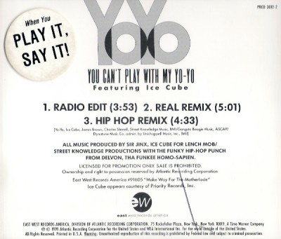 Yo-Yo – You Can't Play With My Yo-Yo (Promo CDS) (1991) (320 kbps)