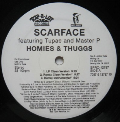 Scarface – Homies And Thuggs (VLS) (1998) (320 kbps)