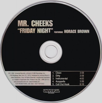 Mr. Cheeks – Friday Night (Promo CDS) (2002) (320 kbps)