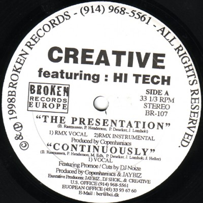 Creative – The Presentation / Continously (VLS) (1998) (FLAC + 320 kbps)