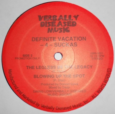 Definite Vacation -4- Suckas – Blowing Up The Spot (Vinyl EP) (1996) (FLAC + 320 kbps)
