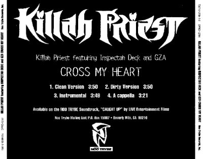 Killah Priest – Cross My Heart (Promo CDS) (1998) (320 kbps)