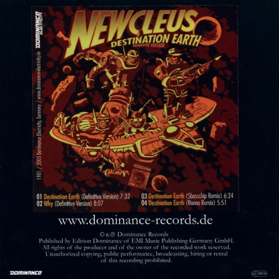 Newcleus – Destination Earth (Definitive Version) (CDS) (2005) (320 kbps)