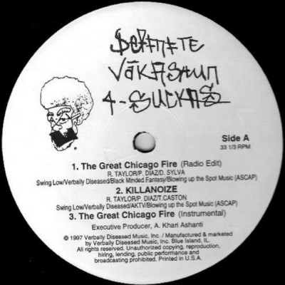 Definite Vacation -4- Suckas – The Great Chicago Fire (Vinyl EP) (1997) (FLAC + 320 kbps)