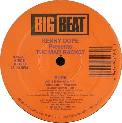 Kenny Dope Presents: The Mad Racket – Supa (VLS) (1991) (FLAC + 320 kbps)
