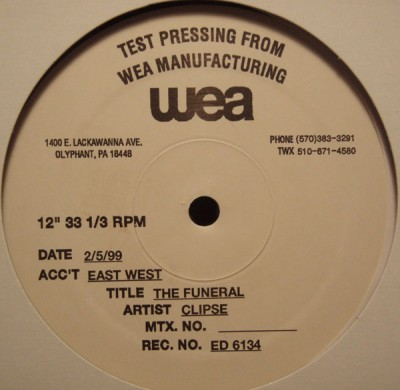 Clipse The Funeral Test Pressing Vls 1999 Flac