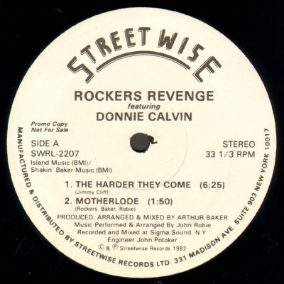 """Rockers Revenge Featuring Donnie Calvin – The Harder They Come (1982) (12"""") (320 kbps)"""