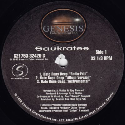 Saukrates – Hate Runs Deep (VLS) (1995) (FLAC + 320 kbps)