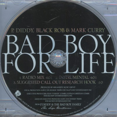 P. Diddy, Black Rob & Mark Curry – Bad Boy For Life (Promo CDS) (2001) (320 kbps)