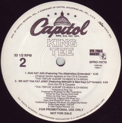 King Tee – Black Togetha Again (VLS) (1992) (FLAC + 320 kbps)
