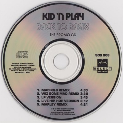 Kid 'N Play – Back To Basix (Promo CDS) (1990) (320 kbps)