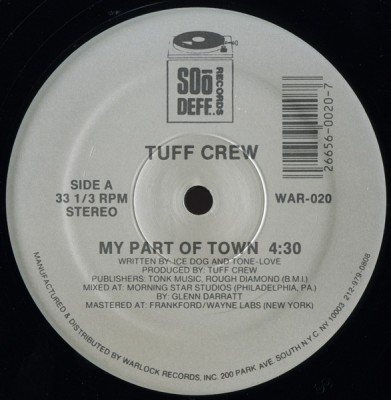 Tuff Crew ‎– My Part Of Town / Detonator (VLS) (1988) (320 kbps)