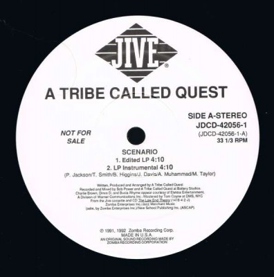 A Tribe Called Quest – Scenario (Promo VLS) (1992) (320 kbps)